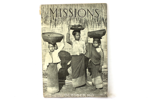 Missions Baptist Monthly Magazine Antique Softcover Book October 1913
