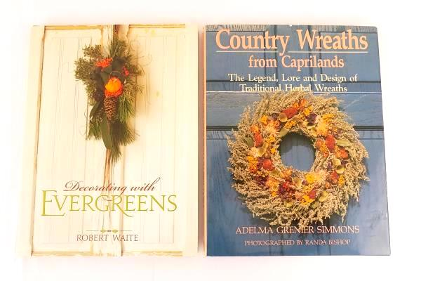 Decorating With Evergreens Country Wreaths From Caprilands Lot of 2 Books