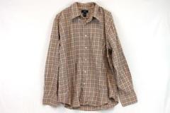 Men's Dockers Red Plaid Long Sleeve Button Down Shirt L 16/16 1/2 Cotton Dress