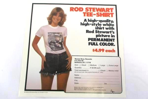 1976 Rod Stewart A Night On The Town WB Records Vinyl LP BS2938 Paper Sleeve