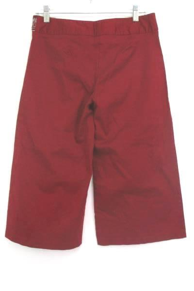 Junior Women Capri Size 9 Pants Red Embroidered Embellished Waistband Heart Soul