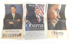Lot of Collectible '08 CHICAGO TRIBUNE Newspaper 11-5-08 Election Pres. Obama