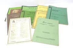Lot of 9 Piano Music Books From J.S. Bach Copyright 1939-1971