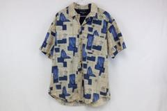 Men's Regatta Yacht Boat Short Button Cotton Casual Shirt Size M