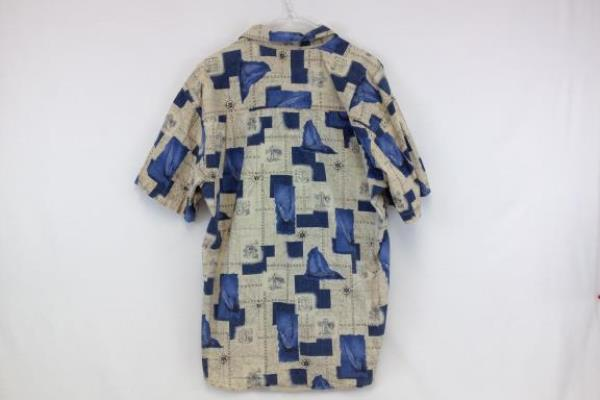 Men's Regatta Yacht Boat Short Button Cotton Casual Shirt Size M