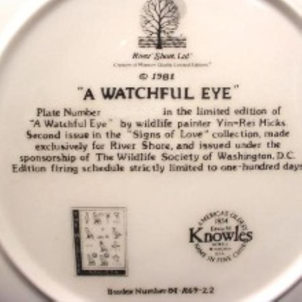Bradford Exchange Signs Of Love Collection Yin-Rei Hicks A WATCHFUL EYE