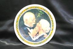 Norman Rockwell Golden Christmas China Plate w/ COA in Box ~ LIMITED EDITION