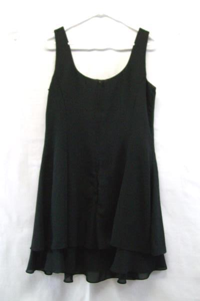 Hampton Nites Women's Black Dress Size 12 100% Polyester Dry Clean Only