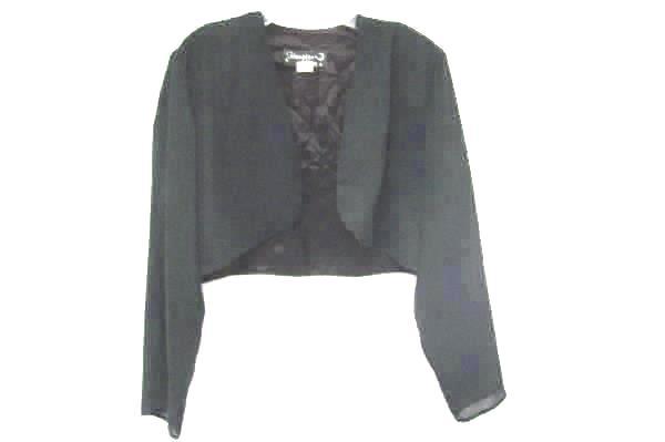 Hampton Nites Women's Long Black Formal Dress W/ Matching Cover Size 13/14