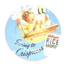 Rice Krispies 2005 Vintage Kellogg's Girl Salad Plate Snap Crackle Pop Swinging