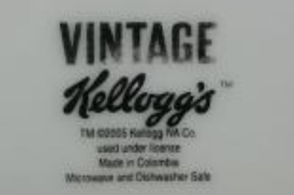 Rice Krispies 2005 Vintage Kellogg's Girl Salad Plate Snap Crackle Pop Swinging