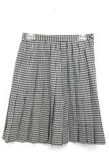 Norton McNaughton Black White Herringbone Pleated Business Casual Skirt 10