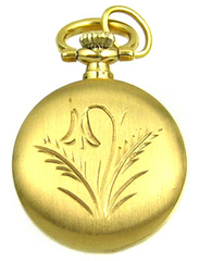 BERNEY Swiss PENDANT WATCH Brushed Gold Overlay