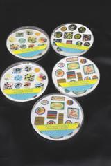 Lot of 153 Stickers Floral Smile Stripes Epoxy Sticker Joy Memo Pad Scrapbook