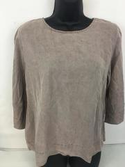 Sam & Lavi Mushroom Taupe Tensel Blouse Top Shirt Size Medium with Tag