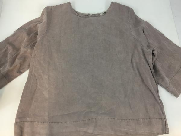 Sam & Lavi Mushroom Taupe Tensel Blouse Top Shirt Size Medium with Tag