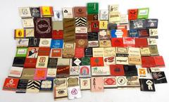 Lot 100+ Vintage Matchbooks - Hotel Restaurant Lounge Politics Advertisement