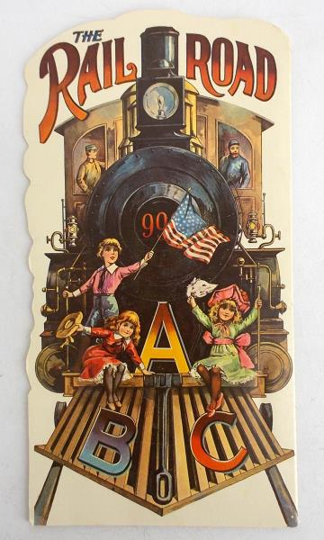 Vintage THE RAILROAD ABC Paperback Book 1982 Illustrated 14 Pages