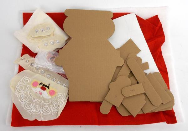 Lot Xmas Needlework Cross Stitch Plastic Canvas Ornament DIY Craft Kits Leaflets