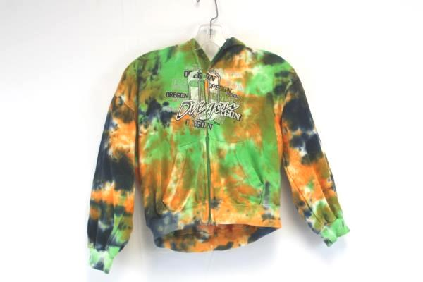 Ocean Blue Kids Sweatshirt Oregon Tie Dye Hoodie Youth Size XL