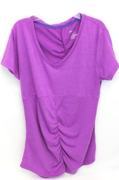 Lot of 2 Women's Work Out Shirts XL Black L Purple By AREI & Marika