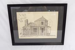 Charles S Kovach Signed & Numbered Ink Drawing Print Of Searights Tollhouse