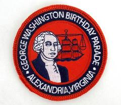 "GEORGE WASHINGTON Birthday Parade Alexandria Virginia Embroidered Patch 3"" NEW"