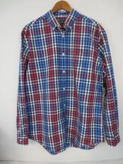 John Bartlett Consensus Red White Blue Men's Plaid Cotton Button Shirt M w/ Tag