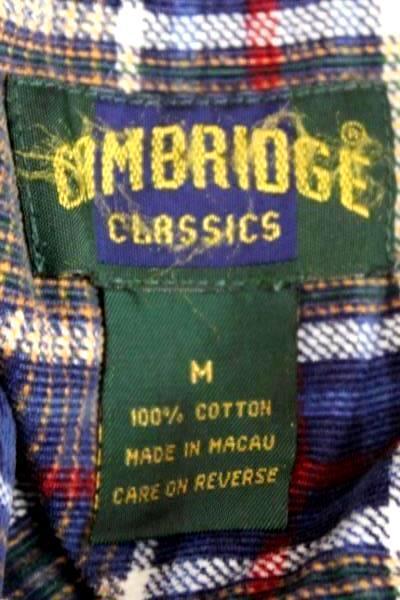 Men's Shirts Cambridge Blue Plaid Flannel M + Portland TrailBlazers Rip City T