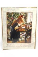 SANDRA KUCK Dear Santa Little Girl Victorian Print Lithograph Picture NEW