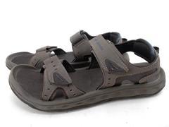 COLUMBIA Brown Gray Grey Techsun III Sport Sandals Vent Hook & Loop Men's Sz 9