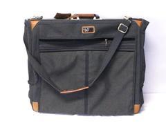 Diane Von Furstenberg DVF Garment Bag Canvas Luggage Travel Sage Green Gray Grey
