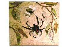 Abstract Lithoprint Canvas Frameable Spider Insect Signed Lace DiMaria 2007