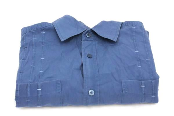 Cubavera Blue Men's Shirt Size Large 100% Cotton Blue Button Down
