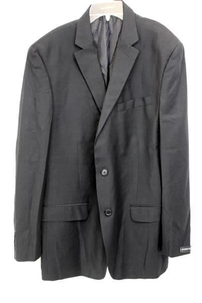 Men's Button Up Suit Jacket Black Size 44L by Van Heusen Studio