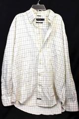 Button Down Yellow, Brown & Blue Stripes Long Sleeved Shirt Size L By Nautica