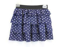 Forever 21 Girls Blue & While Polka Dot Skirt Size Large 100% Polyester
