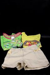 Lot of 3 T-Shirts & Shorts Yellow & Green By Gymboree Steve Circo Kids Size 6