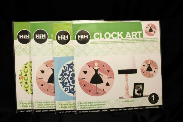 Lot of 12 Hip In A Hurry Clock Art Cutouts One (1) 11 1/4 In Piece