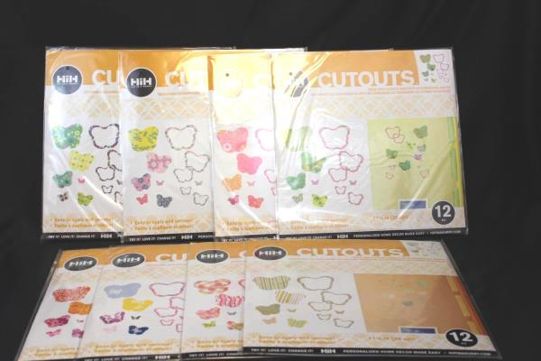 Lot of 8 Hip In A Hurry: Butterfly Cutouts Twelve (12) 11 1/4 In Each