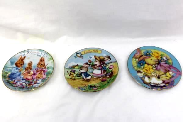 Lot Of 6 Avon Bouquet Easter Plates 1991 to 1996 Porcelain Trimmed 22K Gold