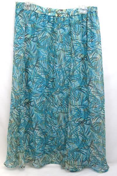 Lot of 2 Dorby Shirt And Skirt Combo Blue And Multi Color Women's Size 12