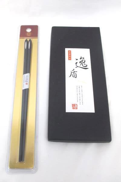 Lot of Six 1 Alloy Black and 5 Painted Wooden Chopsticks