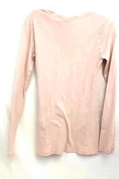 Forever 21 Women's Shirt Long Sleeve Pink 100% Cotton Size M