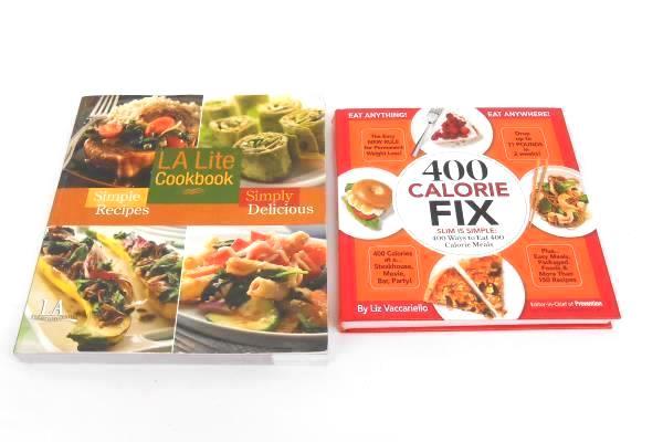 Lot of 2 Cookbooks: 400 Calorie Fix LA Lite Cookbook
