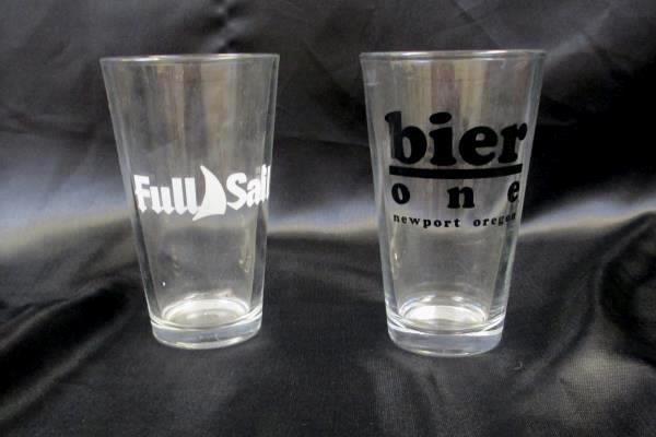 Lot of 2 Beer Cups Full Sail Bier One Newport Oregon