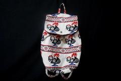 Fimma Portugal Weaved Fold Over Backpack Bag Rooster Boho