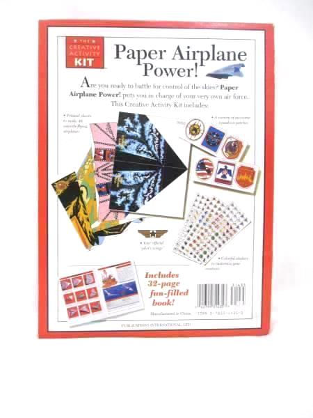 Paper Airplane Power by The Creative Activity Kit Original Box