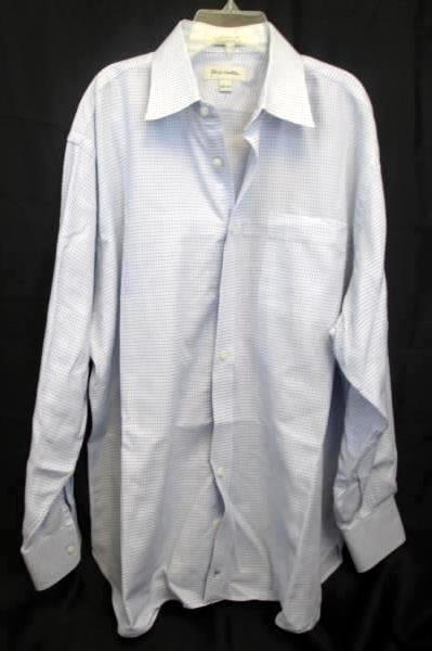 Lot of 2 Dress Shirts John H. Nordstrom Plaid Men's Size 16 1/2-33 +Striped