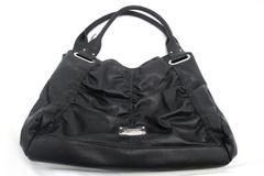 NINE WEST Shoulder Bag Purse Black Button & Zip Up Black Large